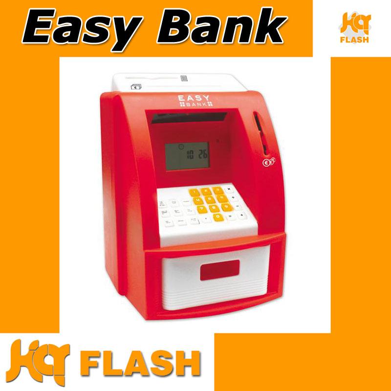 kq easypix easybank spardose kasse f r kinder zum sparen pin karte und wecker ebay. Black Bedroom Furniture Sets. Home Design Ideas